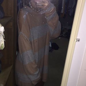 oversized cold shoulder sweater , good condition